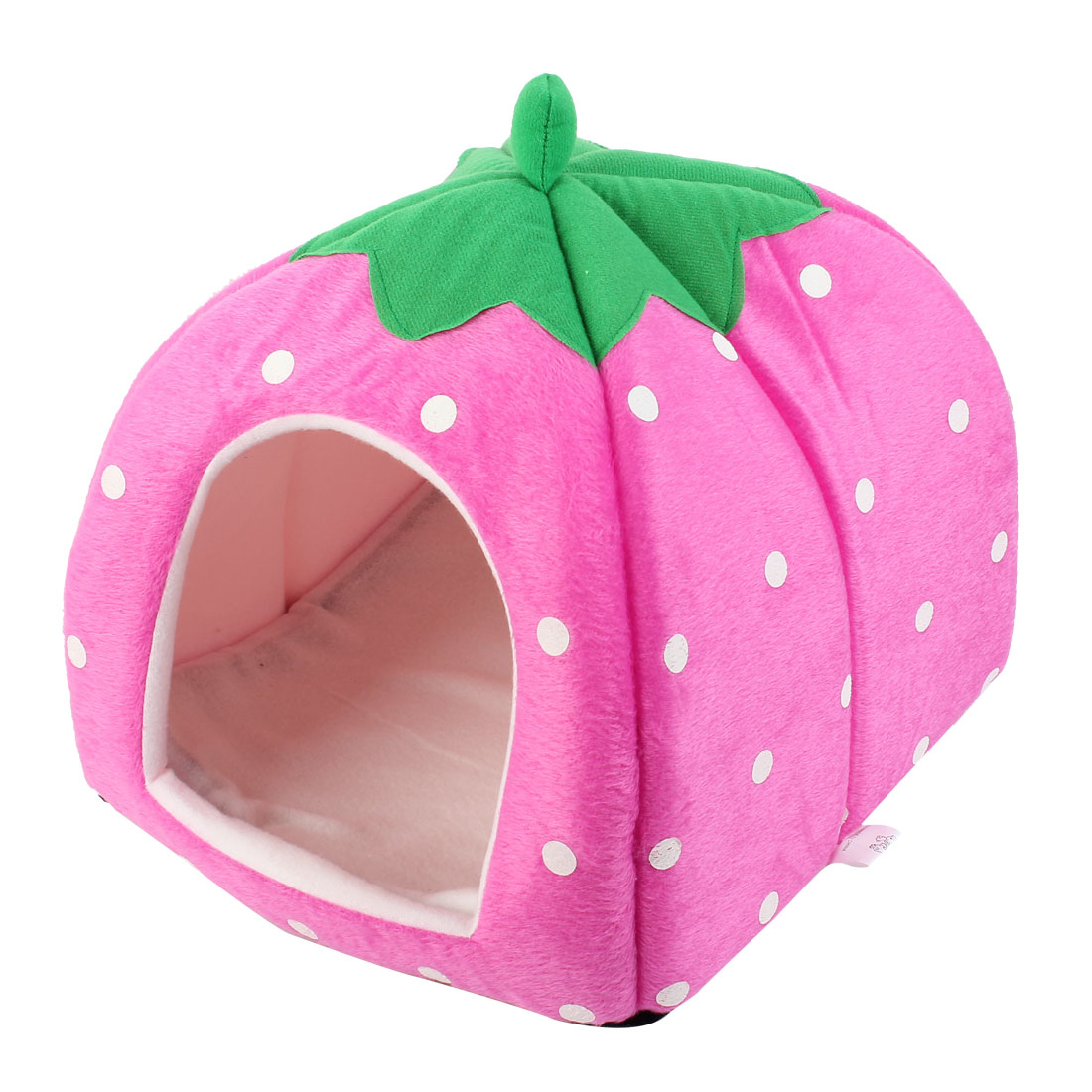 40cm Unfold Height Fuchsia Dots Pattern Folding Kennel Pet Cat Dog House