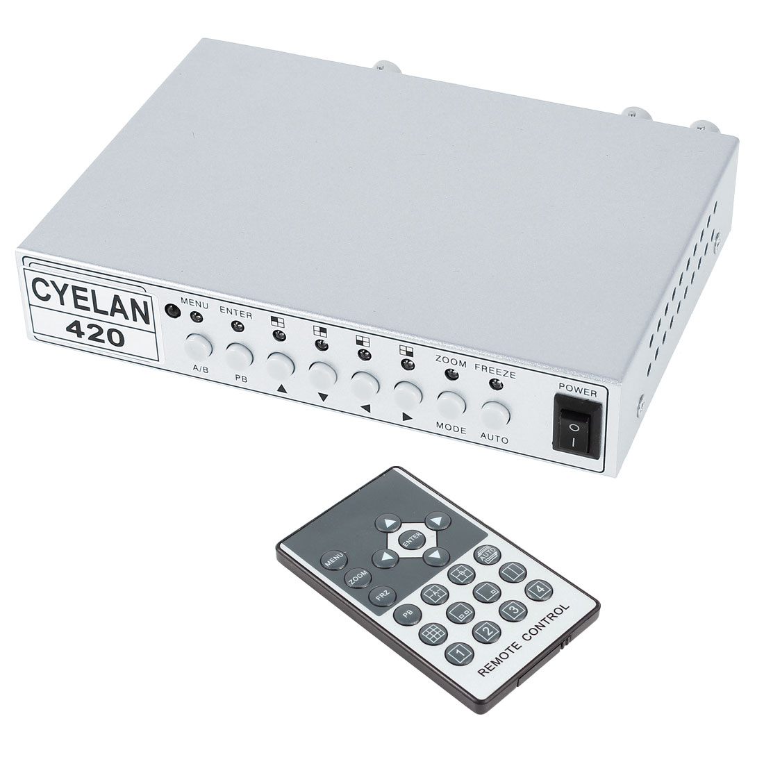 2Ch CCTV Color QUAD Processor Spliter for Surveillance Security Camera System