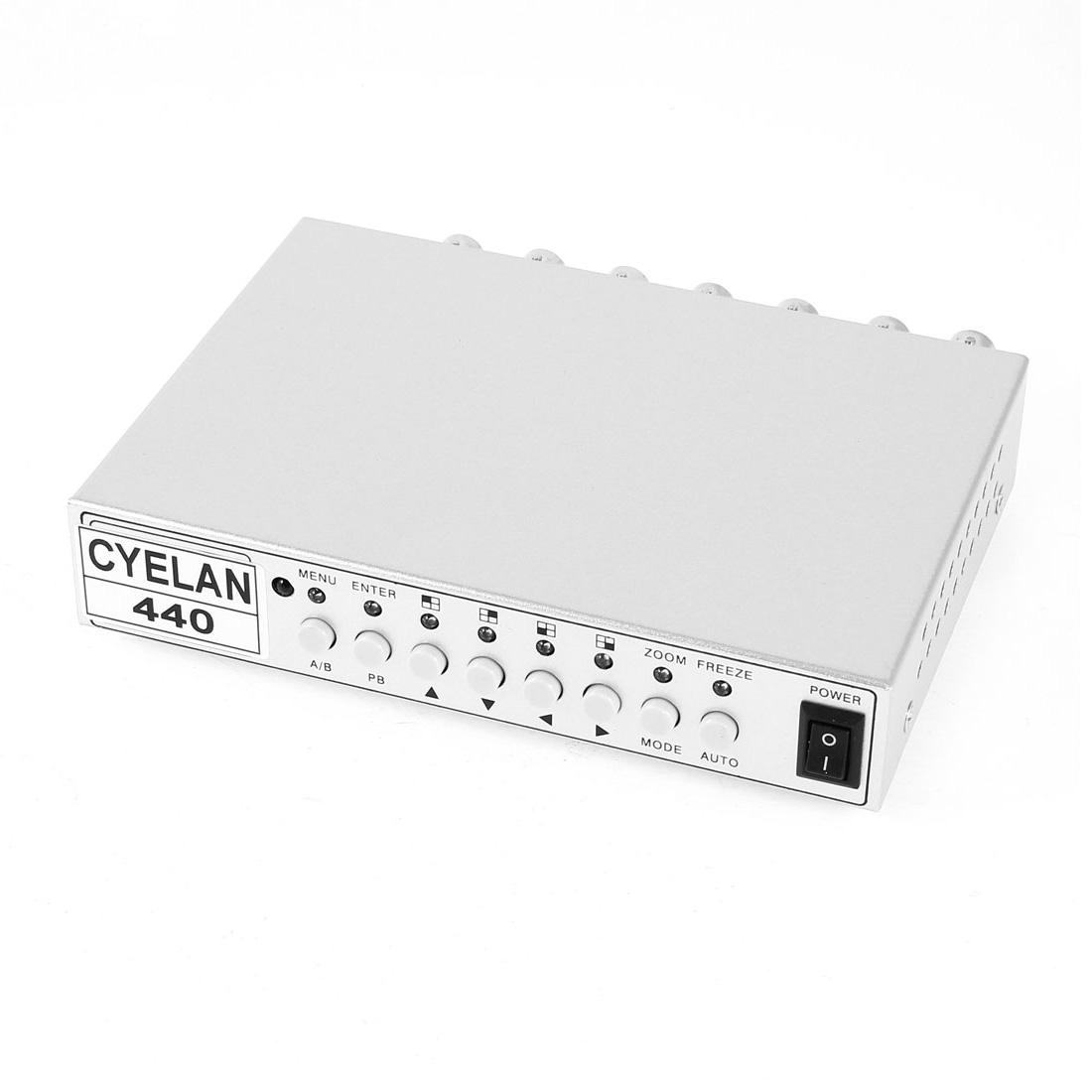 4Ch CCTV Color QUAD Processor Spliter for Surveillance Security Camera System