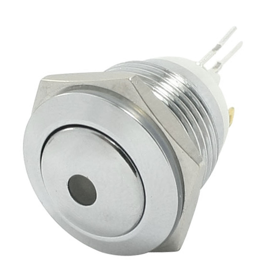 24V Green LED Lamp SPST Latching Car Stainless Steel Push Button Switch 16mm