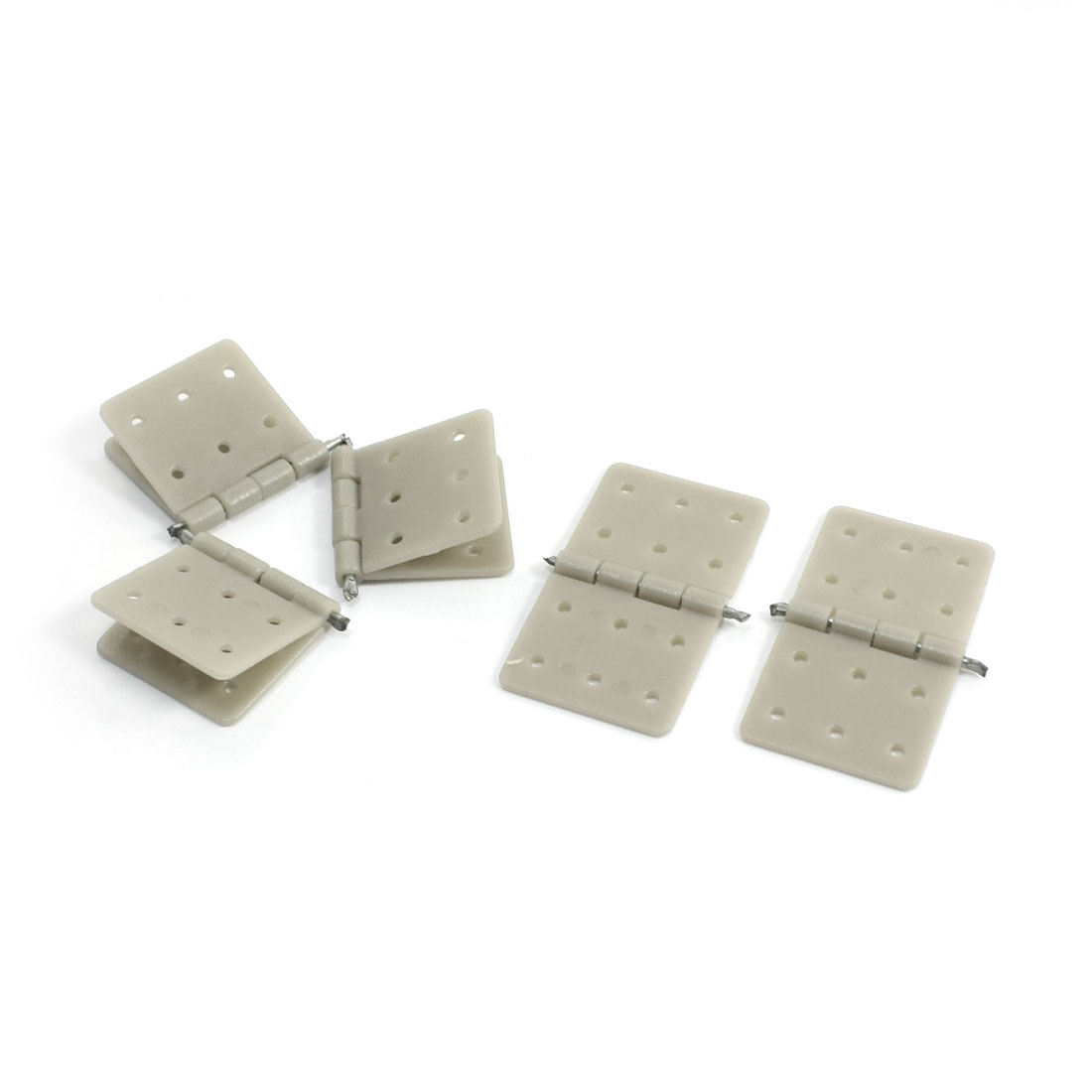 5pcs DIY RC Model Aircraft Parts 20x36mm Nylon Pinned Hinges Gray