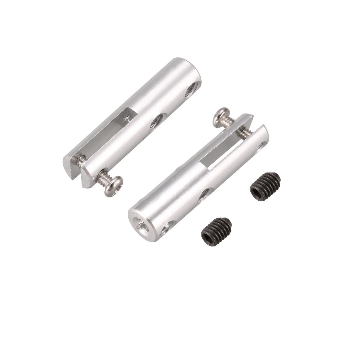 2pcs Silver Tone Aluminum Clevis 25 x 6 x 2.3mm for 2.3mm Push Rod