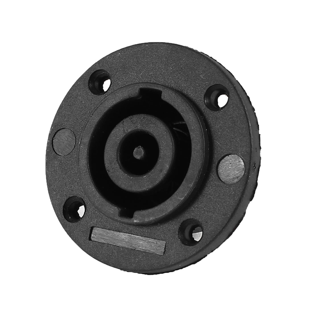 Black Speaker 8 Pole PCB Round Panle Mount Socket Connector