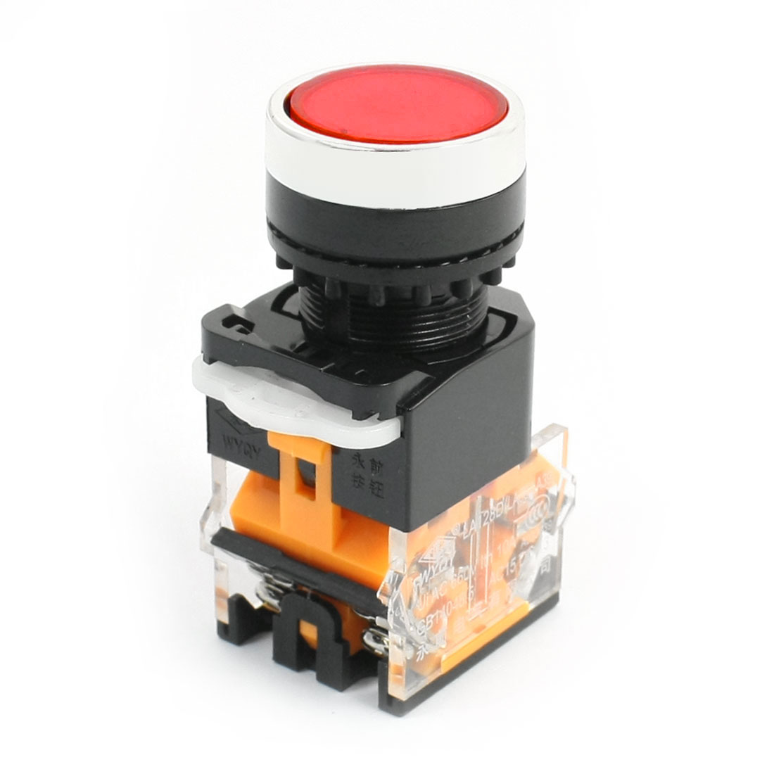 660V 10A DPST Momentary Red Round Head Emergency Stop Pushbutton Switch