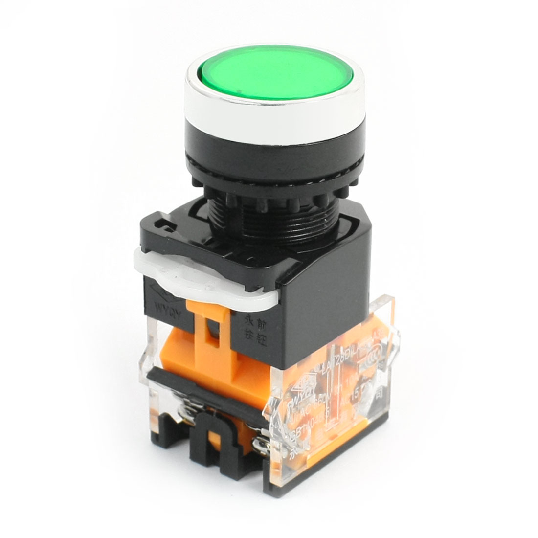 Panel Mount Green Round Cap Momentary DPST Emergency Stop Switch AC 660V 10A