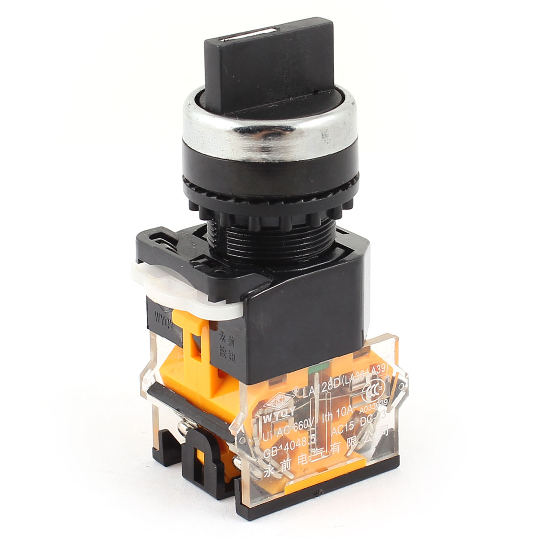 660V 10A DPST Self-locking NO+NC 3 Position Control Rotary Switch
