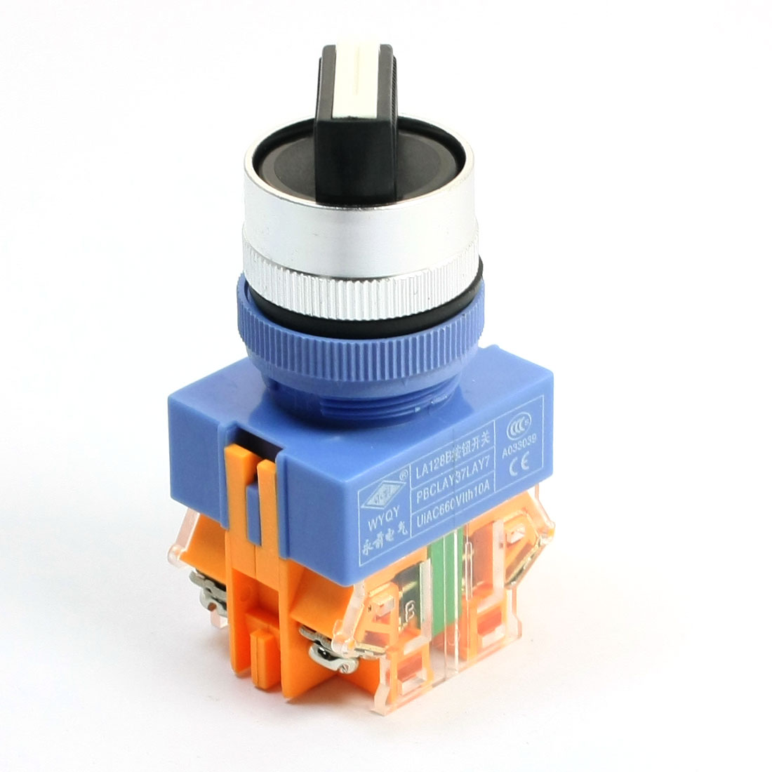 660V 10A DPST 2 Position Control Rotary Selector Latching Switch