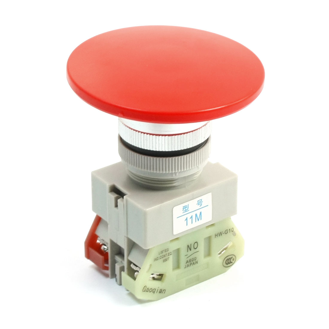 DPST Momentary Action Type Red Mushroom Head Push Button Press Switch 660V 10A