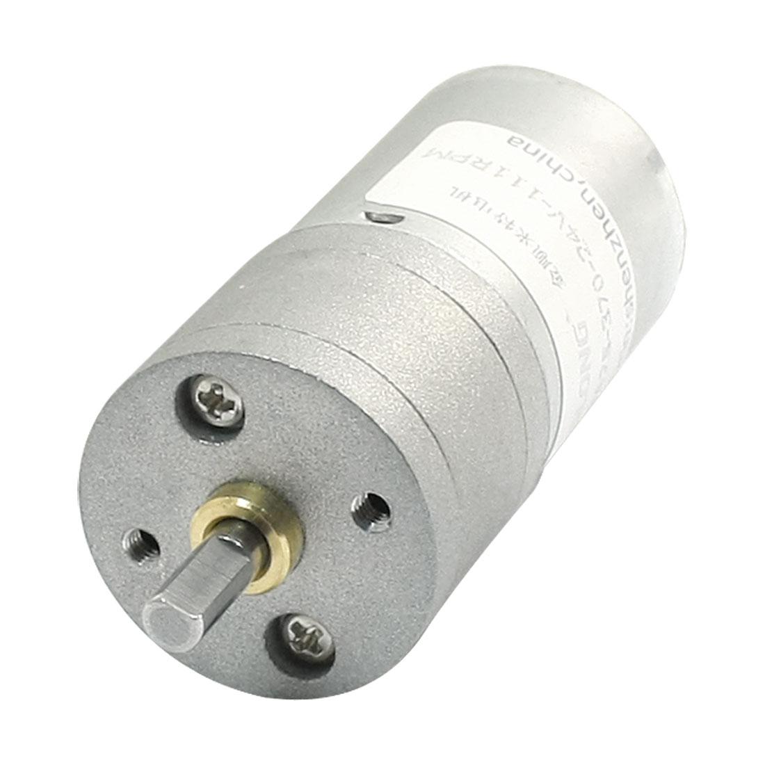 GA25-370 DC 24V 111r/min Cylinder Shape Case Speed Reduce Gear Motor