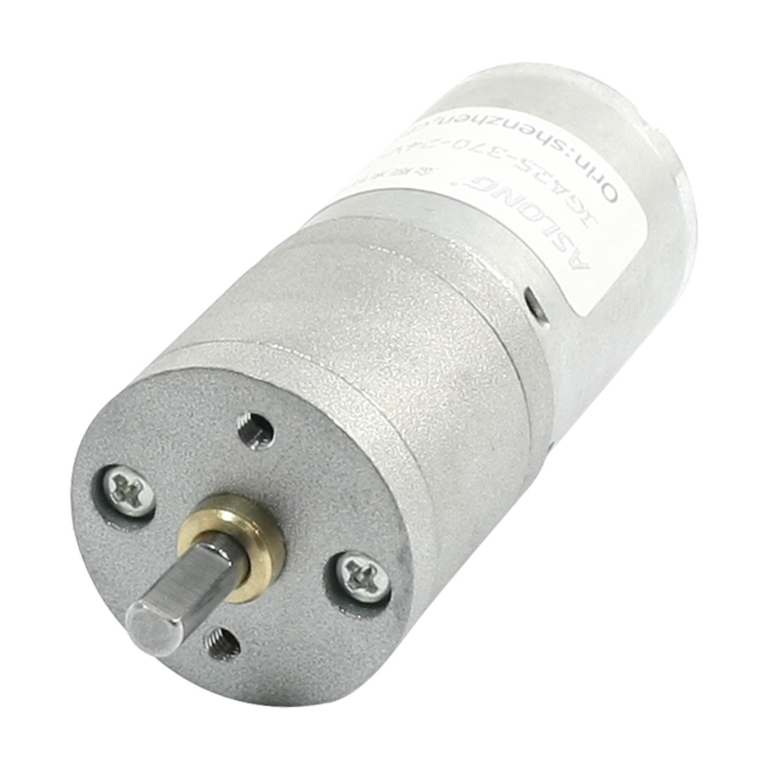 GA25-370 DC 24V 17RPM 4mm Shaft Cylinder Shaped Speed Reducing Gear Motor