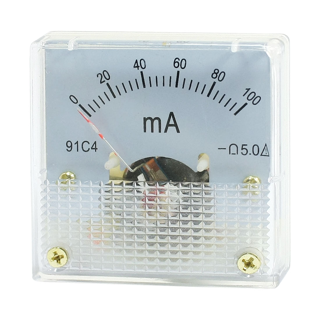 91C4 DC 100mA Rectangle Analog Panel Ammeter Gauge Amperemeter Class 2.5
