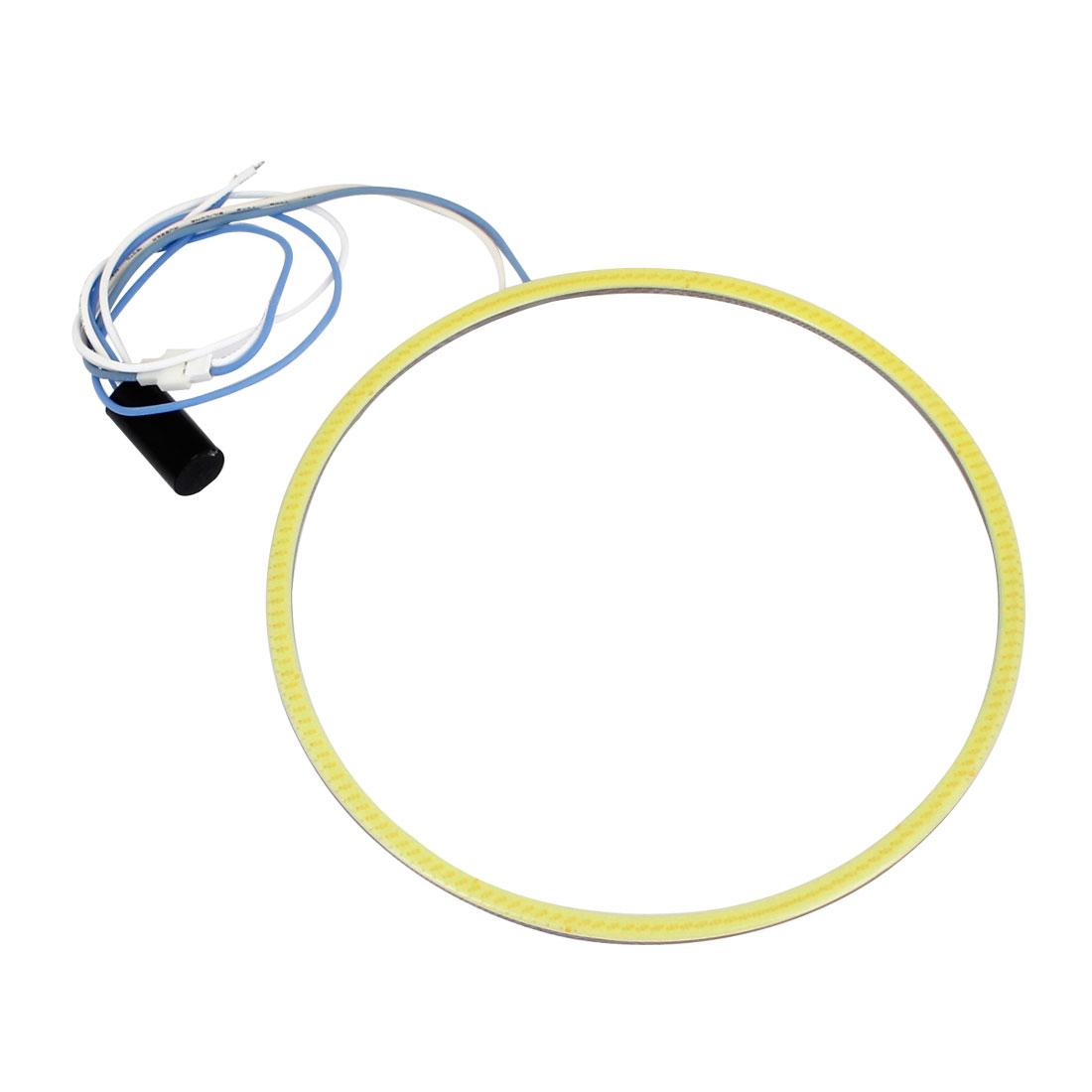 Car Auto 140mm Dia COB LED Angel Eyes Ring Light Driving Lamp White 12V
