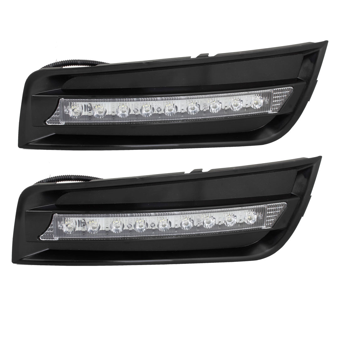 2 Pcs 12V White 9 LEDs DRL Daytime Running Lights Headlamp for Cruze