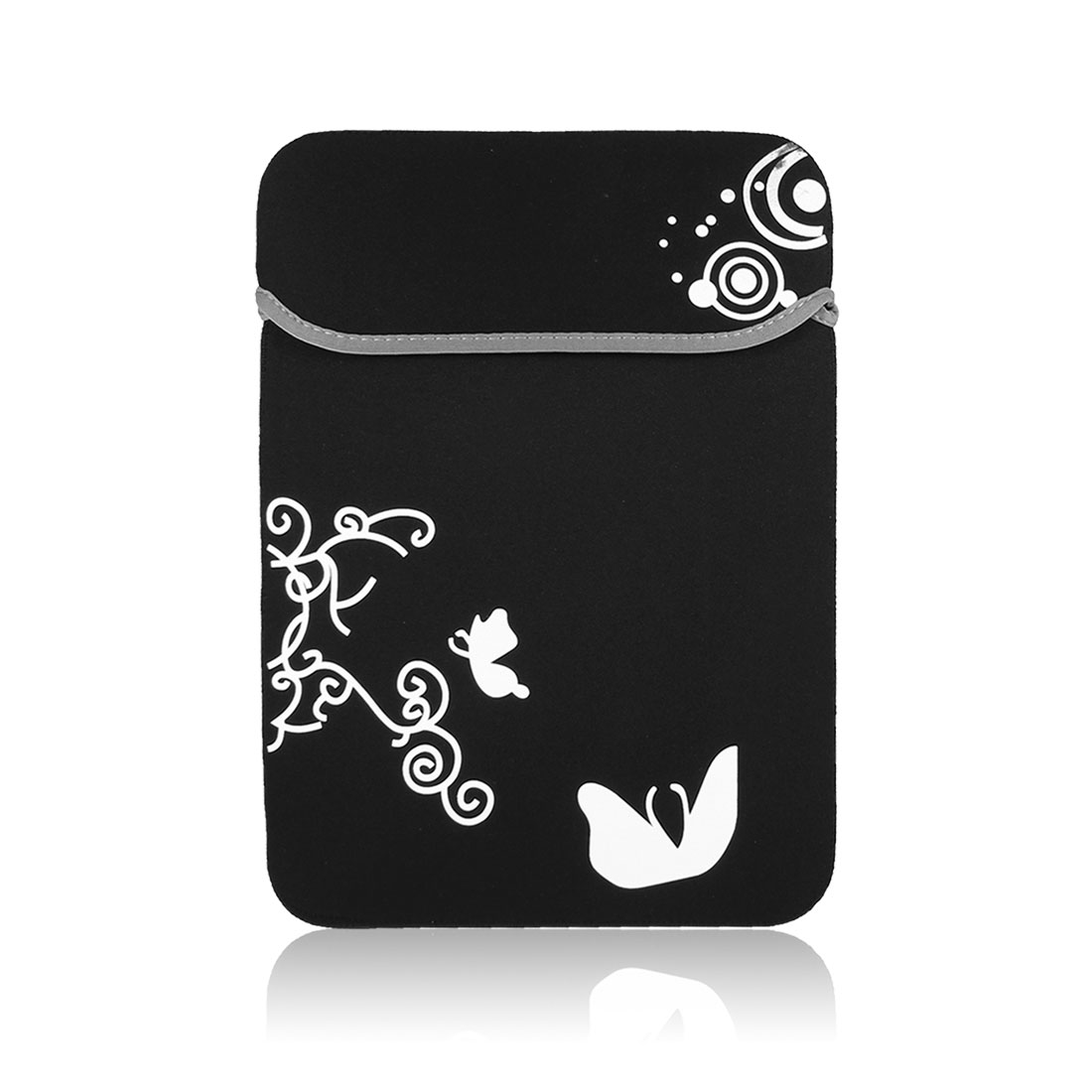 "Black White Butterfly Pouch Sleeve Case Cover for 15"" 15.4"" 15.6"" Laptop Notebook"
