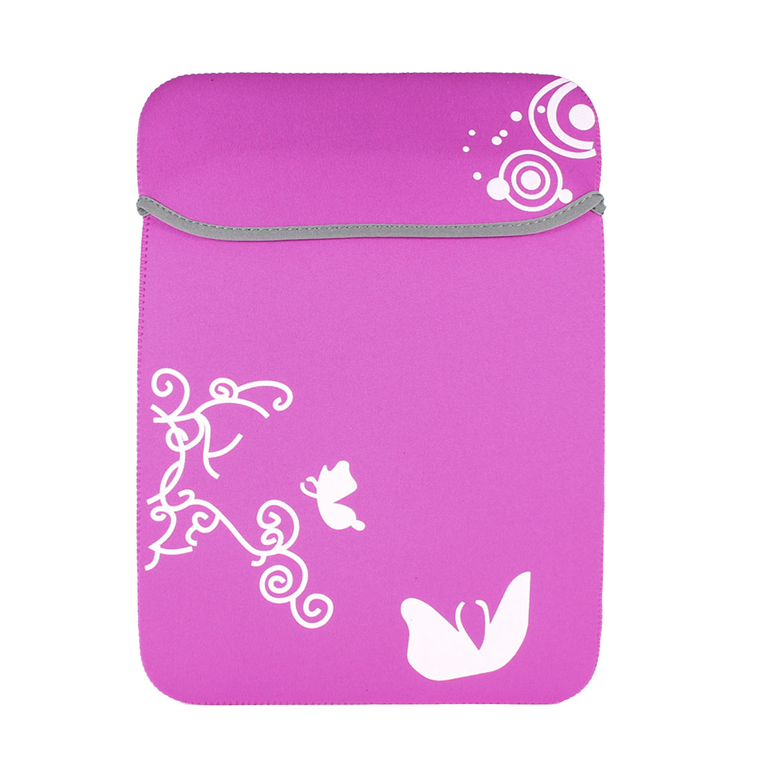"Pink White Butterfly Pouch Sleeve Case Cover for 15"" 15.4"" 15.6"" Laptop Notebook"