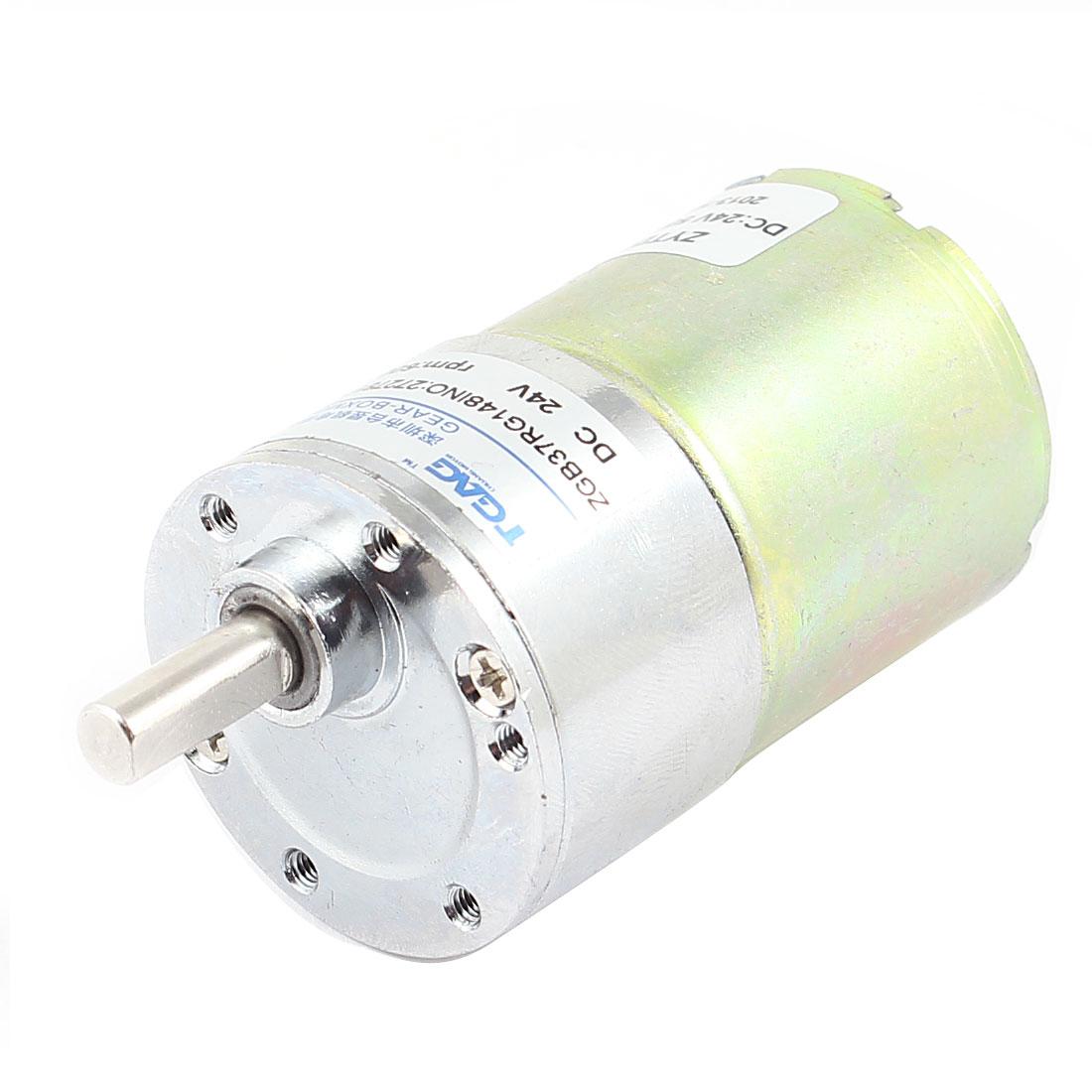 DC 24V 0.33A 8.6kg.cm Torque 37mm Dia Magnetic DC Gear Box Motor 600 RPM