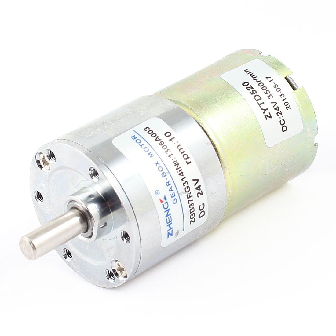 DC 24V 0.33A 37mm Dia Magnetic Gear Geared Box Motor 10 RPM