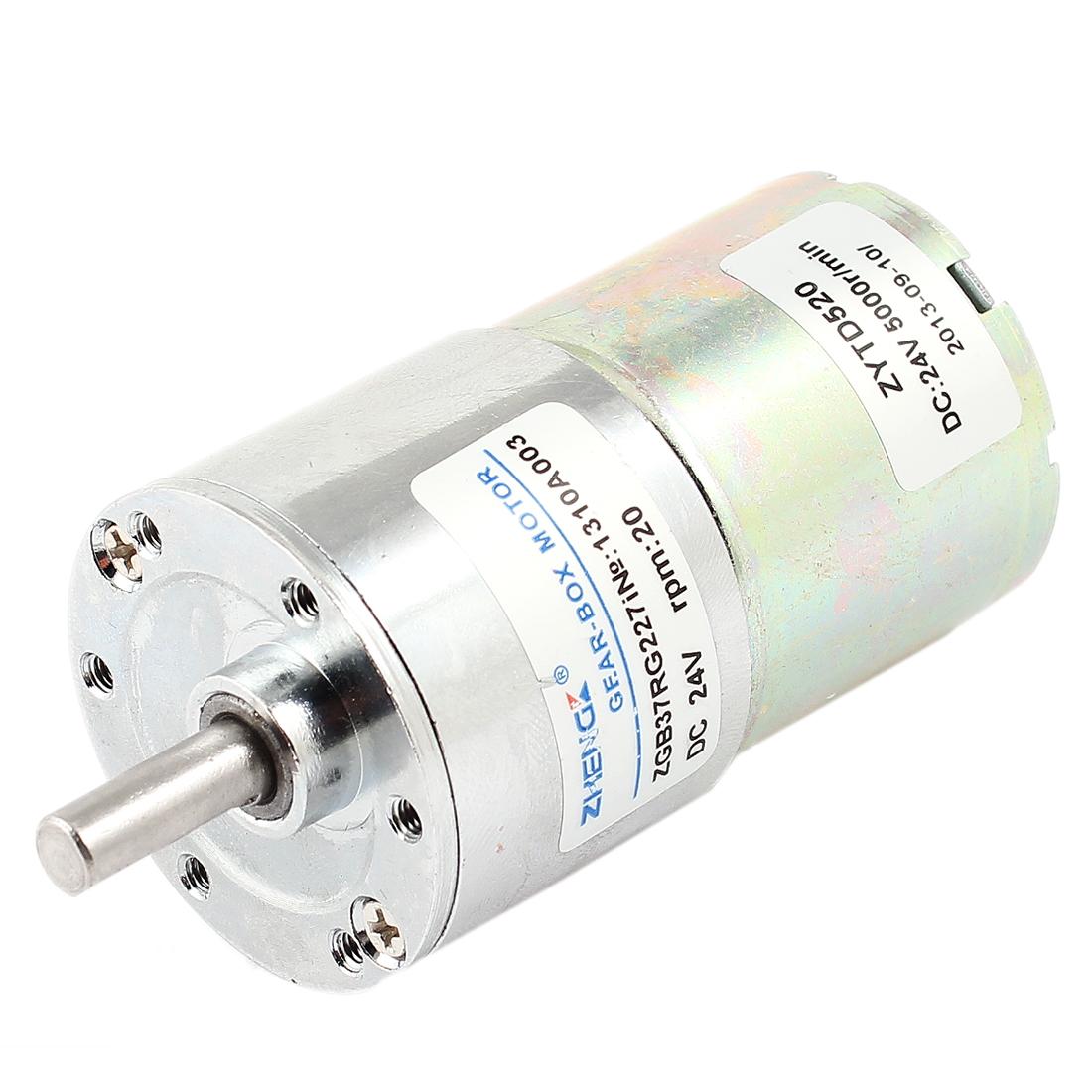 DC 24V 0.33A 13kg.cm Torque 37mm Dia Magnetic Gear Box Motor 20 RPM