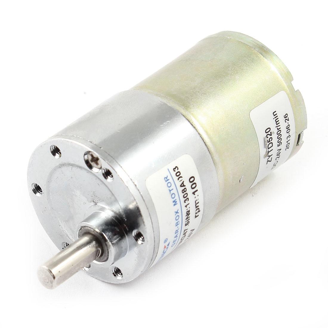 DC 24V 0.33A 2.6kg.cm Torque 37mm Dia Magnetic Gear Box Motor 100 RPM