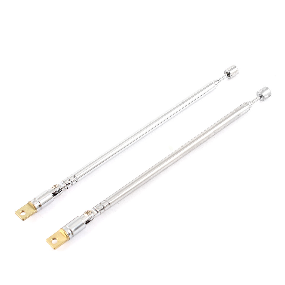 2 Pcs Rotated 180 Degree 4 Sections 37cm Long Telescopic Antenna