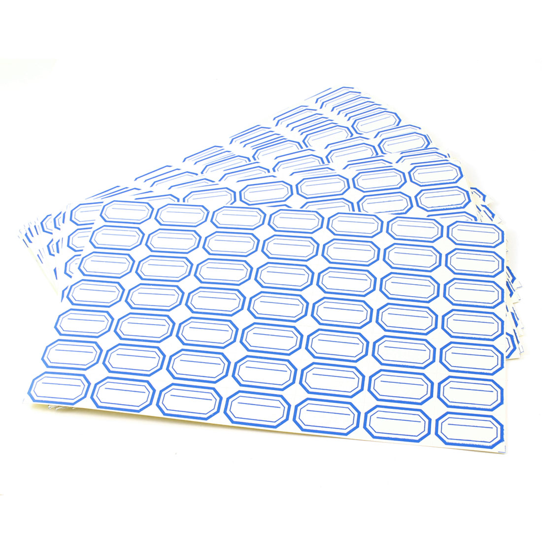 35pcs White Blue Self Adhesive Lines Pattern Shop Price Marking Label Paper Tagboard