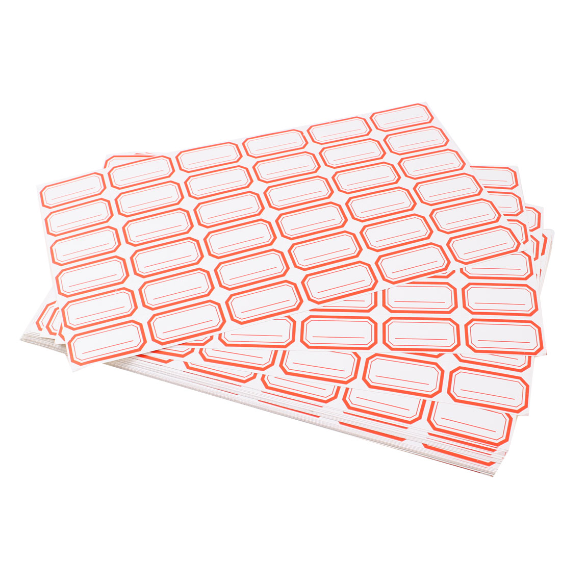 35pcs White Red Self Adhesive Lines Pattern Price Marking Label Paper Tagboard