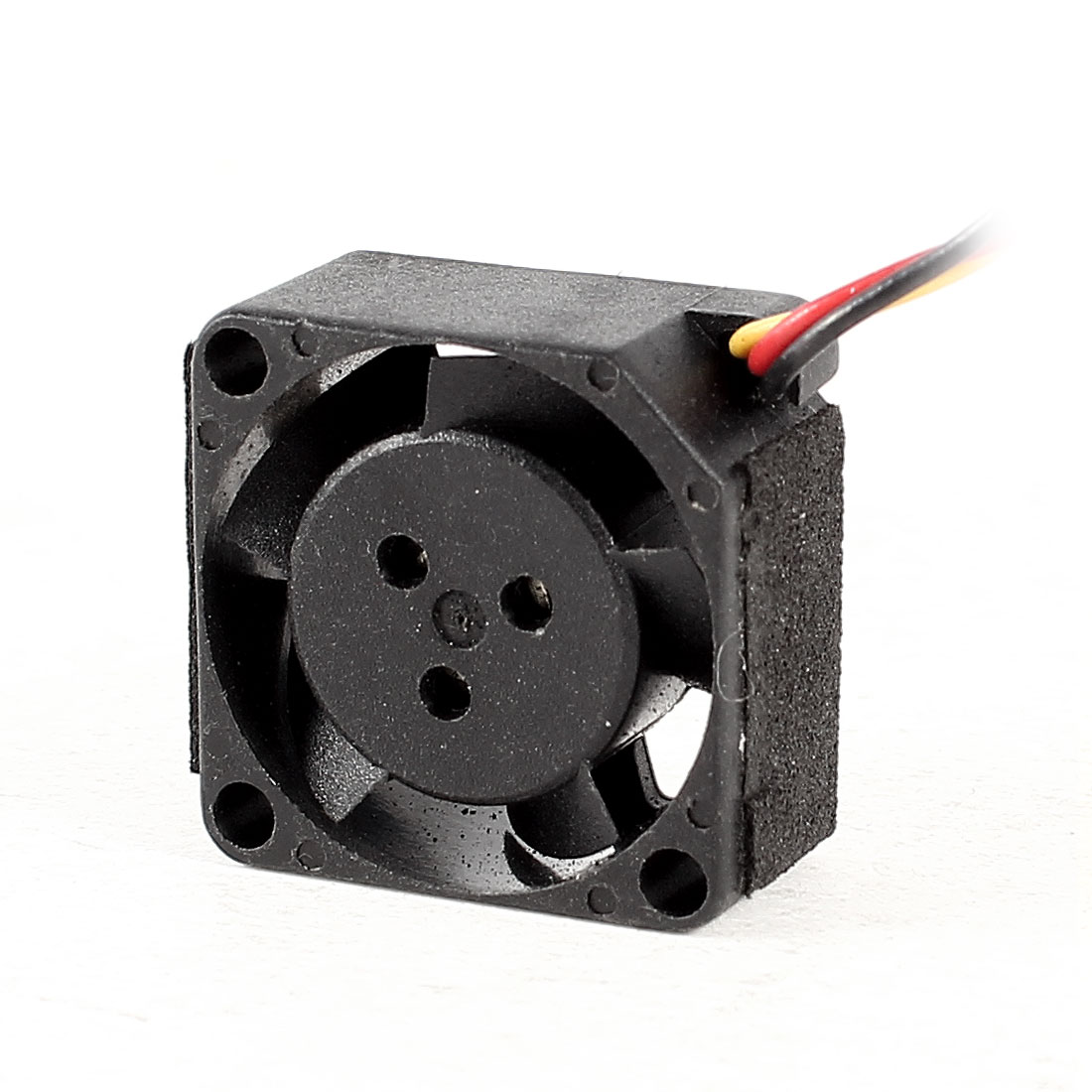 DC 5V 0.2W 20mmx10mm 3 Terminals Connector Black Plastic CPU Cooling Fan Cooler