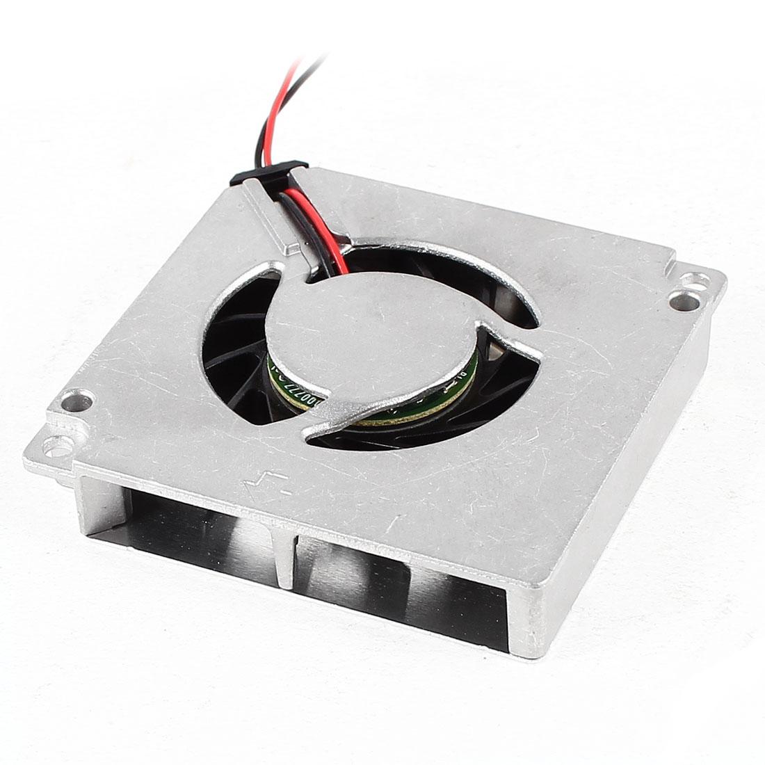 Black Silver Tone DC 5V 0.16A Aluminum Heat Sink Computer VGA Cooler Cooling Fan