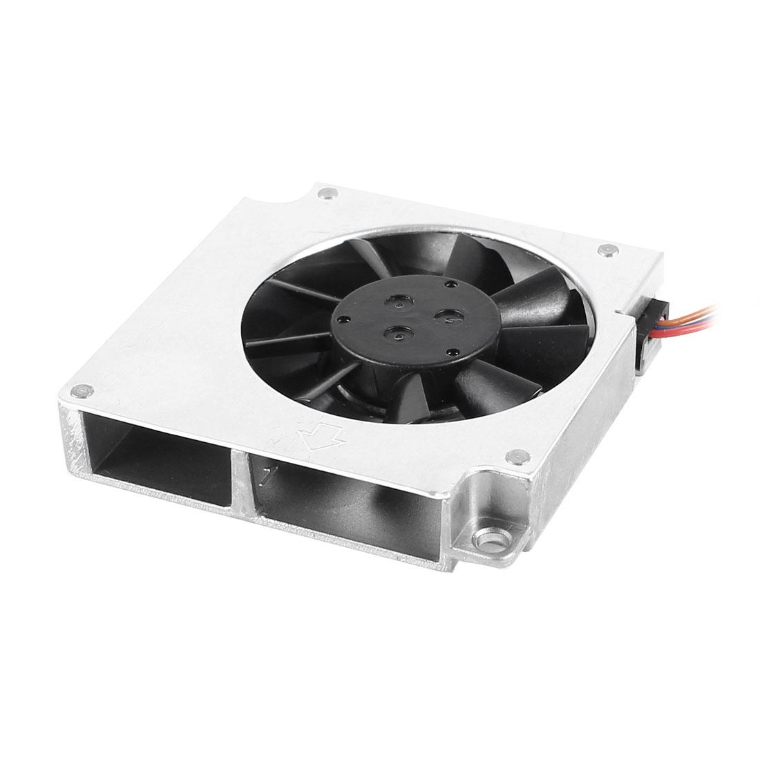 Black Silver Tone Plastic VGA Heatsink Cooler Cooling Fan DC 12V 0.08A
