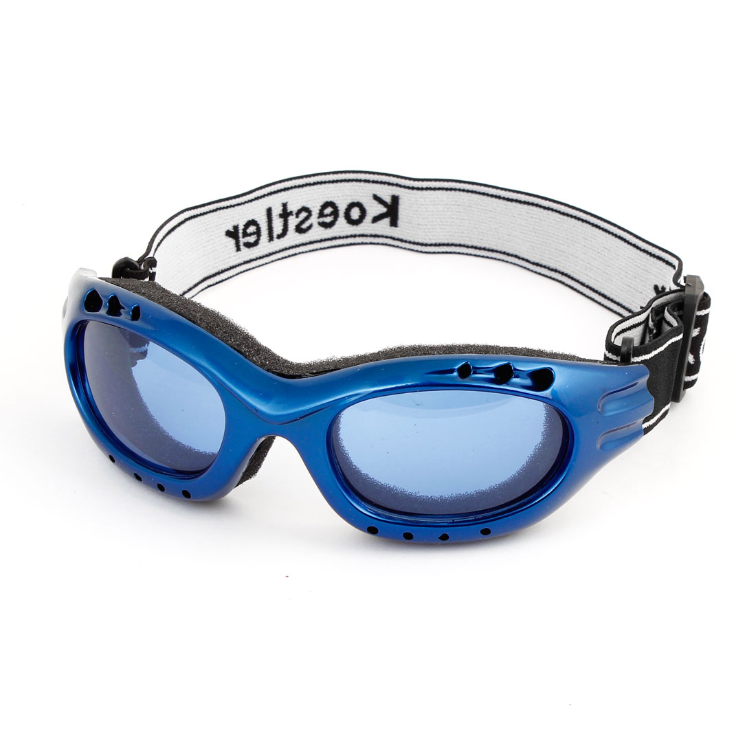 Black Full Rimmed Sponge Loaded Motorbike Motorcycle Eyeshield Glasses Blue