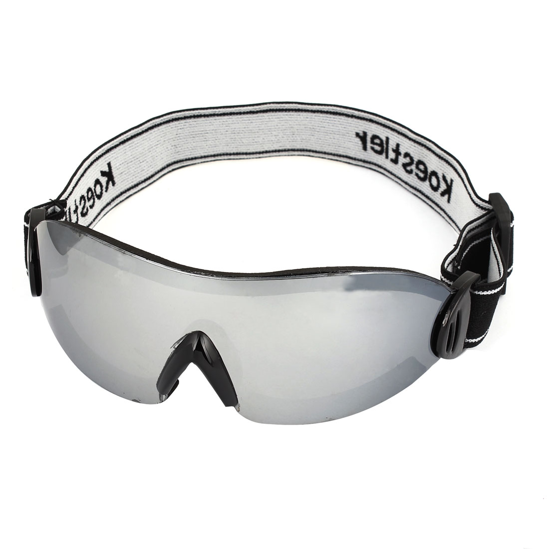 Unisex Elastic Strap Rimless Clear Lens Motorbike Snowboarding Goggles Glasses