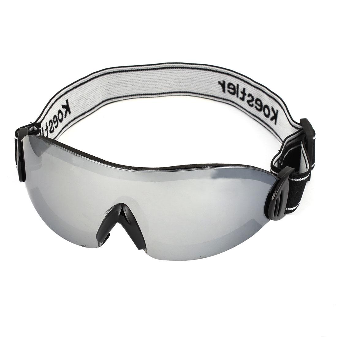 Unisex Elastic Strap Rimless Clear Lens Motorbike Snowboarding Goggles Glasses