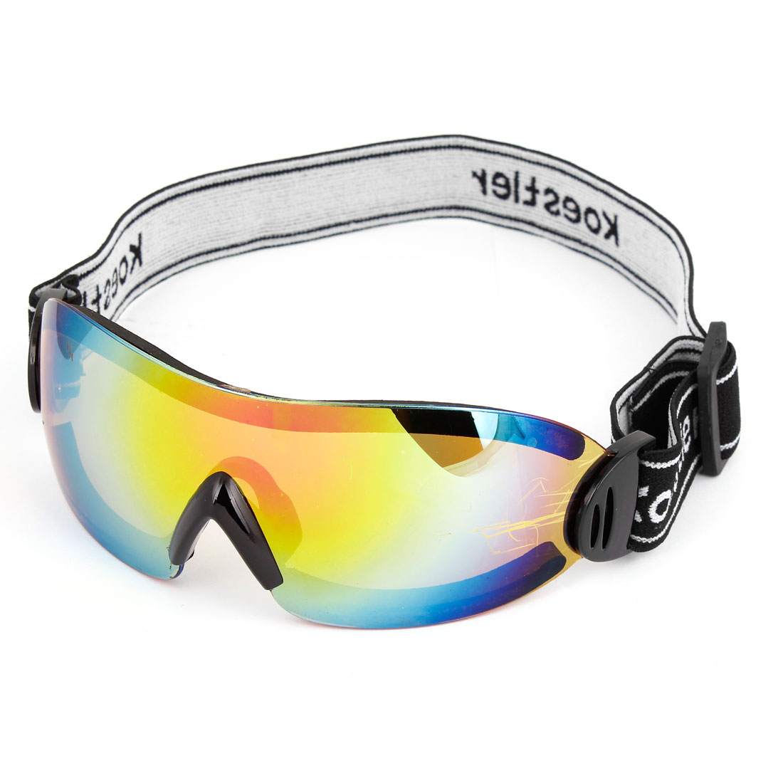 Unisex Elastic Strap Rimless Colorful Lens Motorbike Snowboarding Goggles Glasses