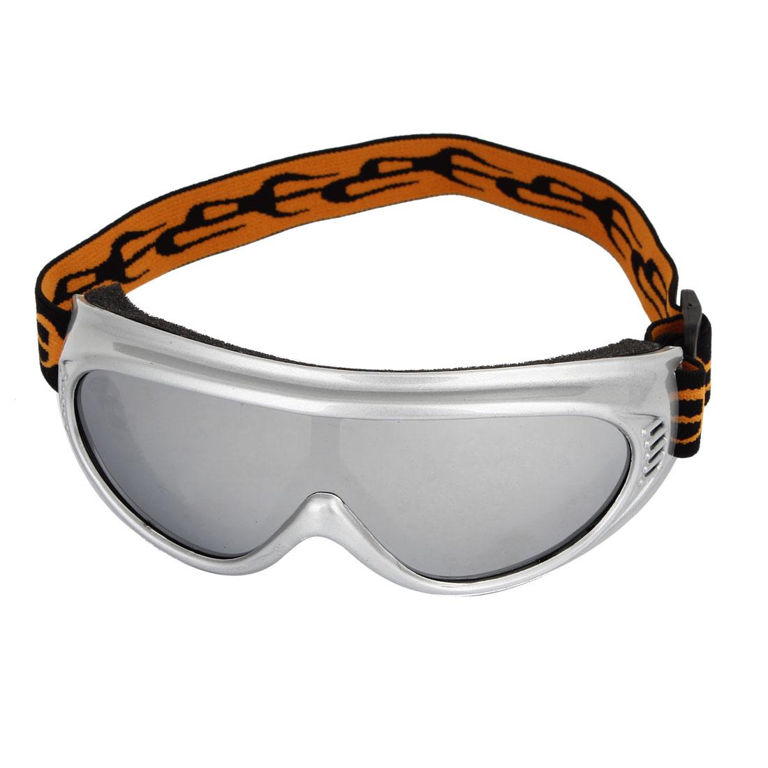 Unisex Plastic Full Frame Clear Len Motorbike Snowboarding Eye Protector Goggles