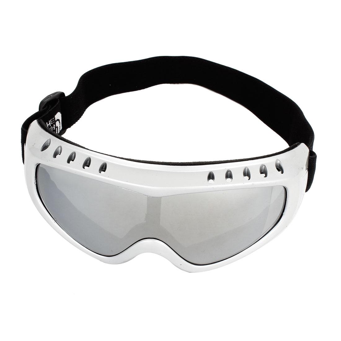 Colorful Lens Black Full Rimmed Sponge Loaded Motorbike Safety Glasses Gray