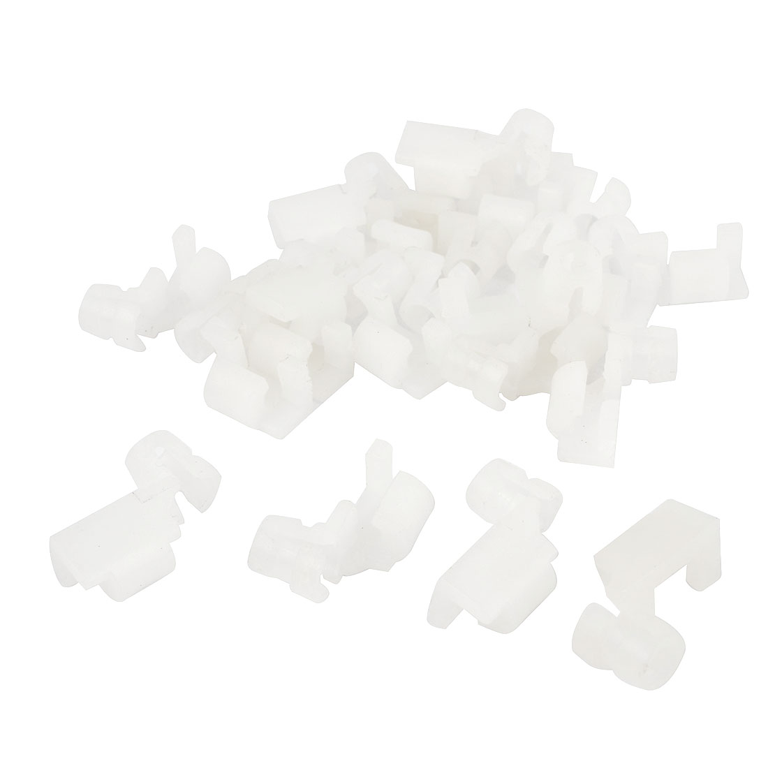 20 PCS 6mm Hole White Plastic Rivet Interior Trim Panel Car Door Retainer Clips