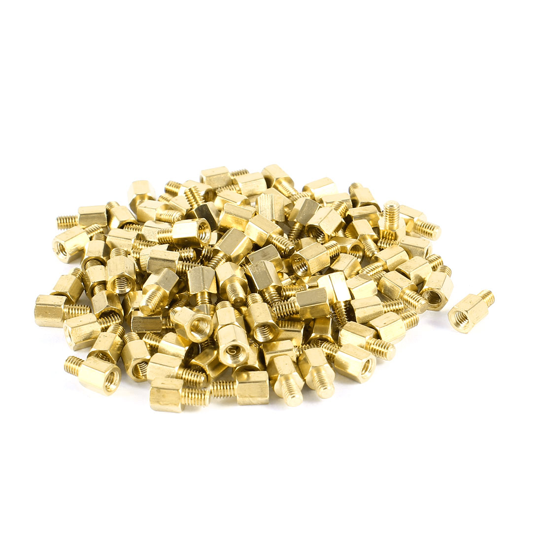 100 Pcs PC Case PCB Motherboard Brass Standoff Hexagonal Spacer M3 5+4mm