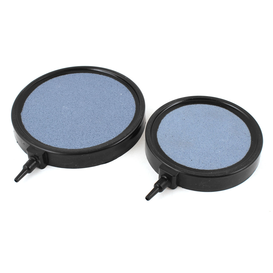 2PCS Black Plastic Housing Round Bubble Air Stone for Fish Tank