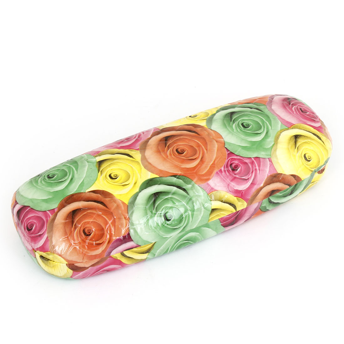 Assorted Color Rose Pattern Rectangle Shape Eyeglasses Case Box Container Holder