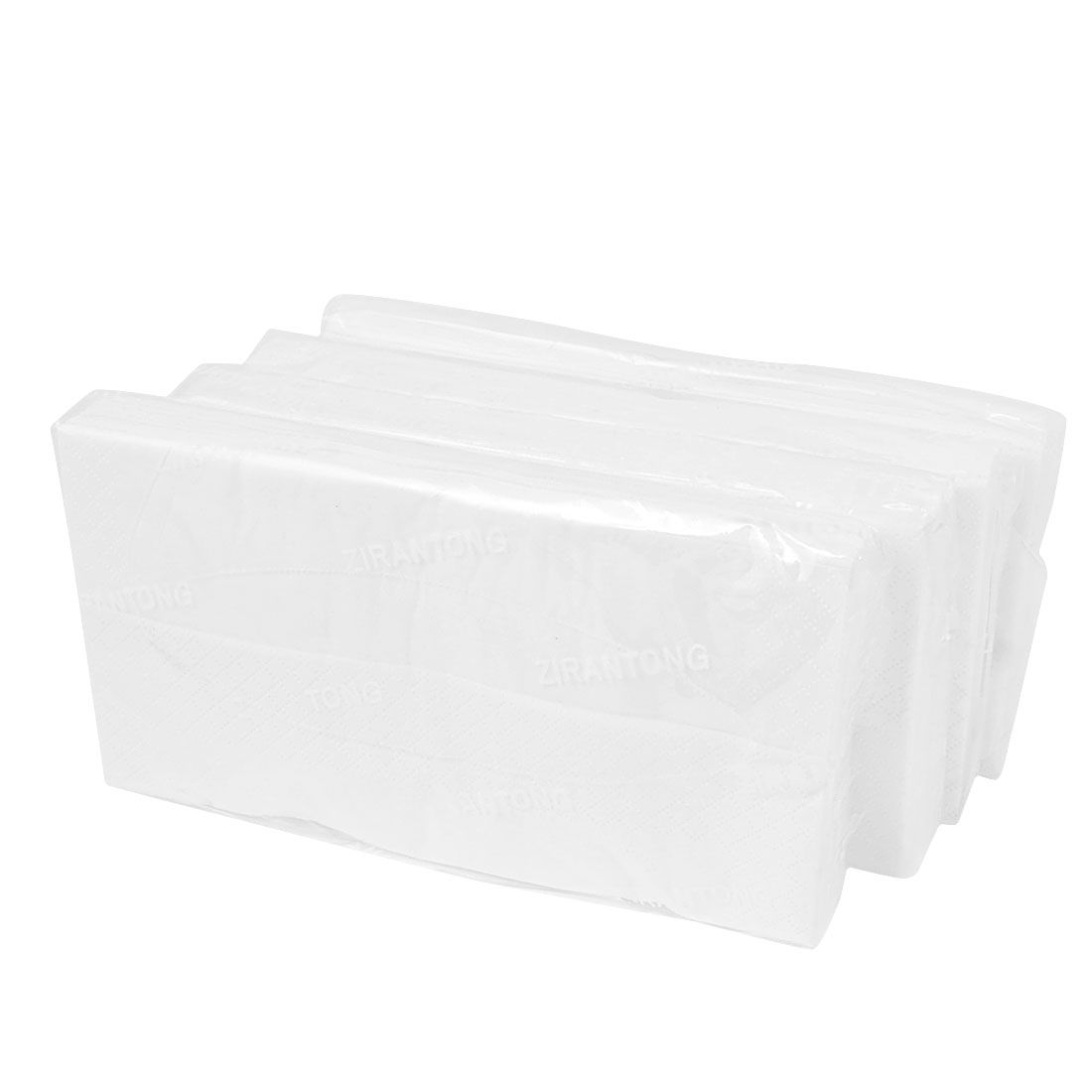 4 Packs Car Auto White Soft Rectangle Facial Cleaning Visor Tissue Napkin Refill
