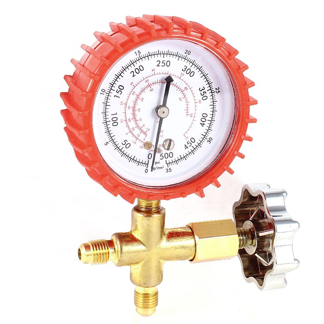 11mm Thread Air Conditioner Refrigeration Single Manifold Pressure Gauge Tool