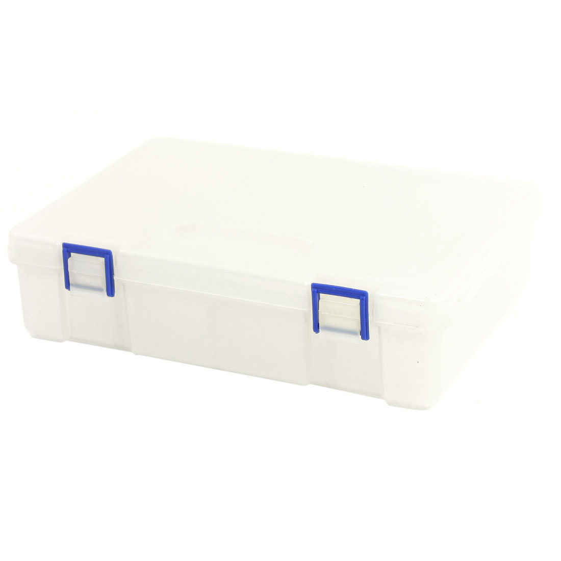 Adjustable 8 Slots Rectangle Chip Electronic Parts Storage Box Case Clear White
