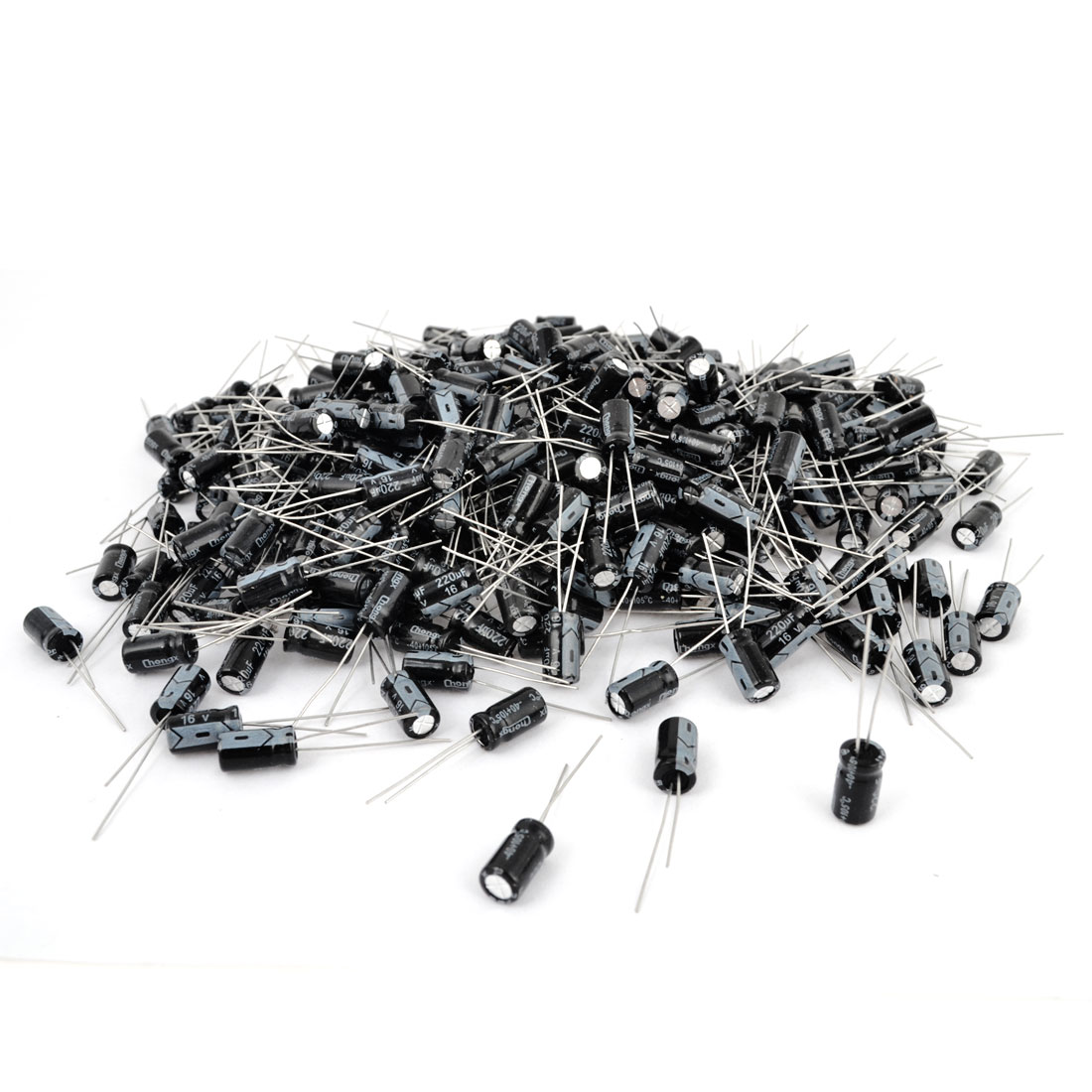 1000 Pcs 6mm x 11mm 220UF 16V Polarized Radial Electrolytic Capacitor