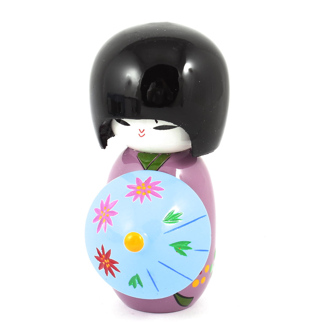 Purple Black Blue Wooden Japanese Craftting Kokeshi Dolly Desktop Decoration