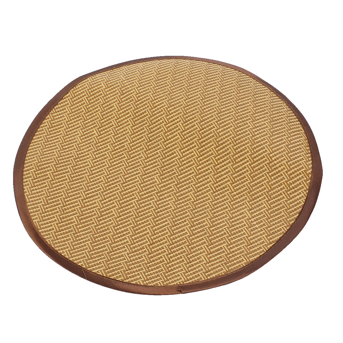 Picnic Patio 40cm Dia Round Shape Dog Doggie Cat Summer Bed Mat Pad Brown