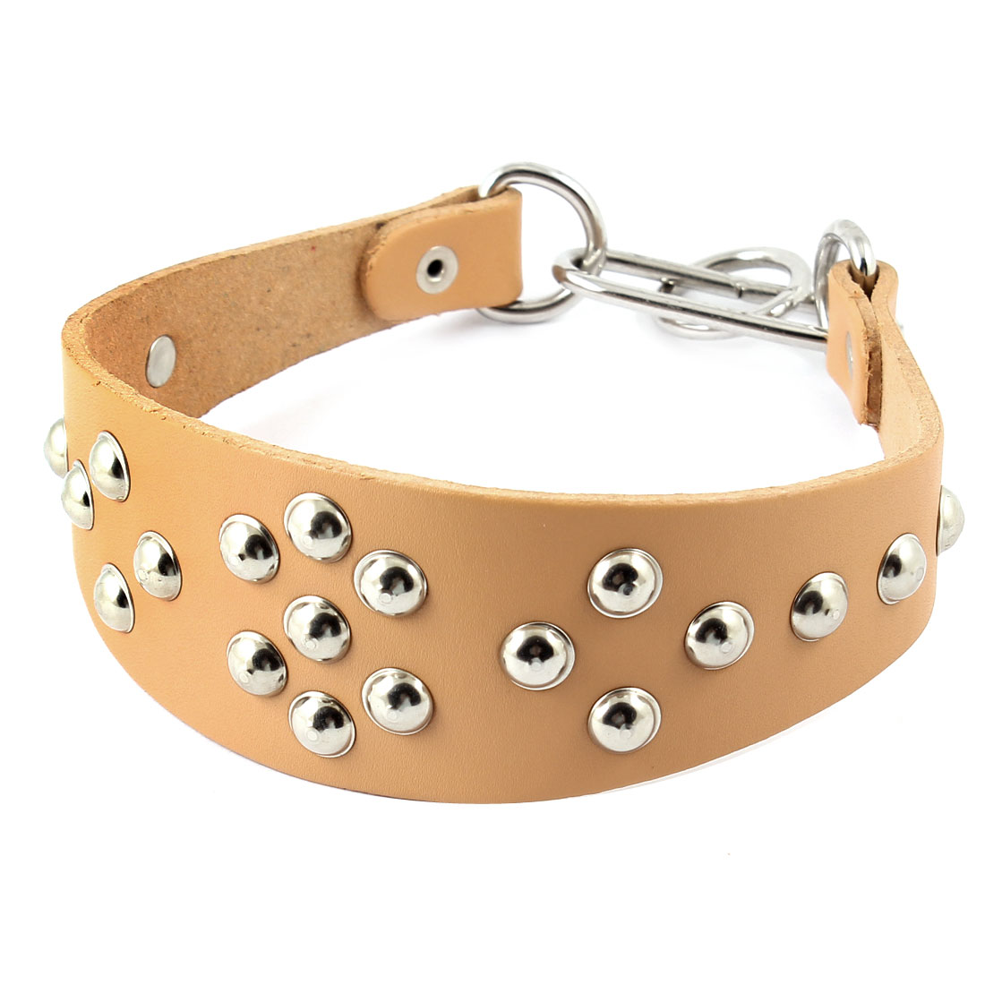Mushroom Nail Accent Brown 5cm Width Adjustable 36-45cm Girth Dog Cat Pet Collar