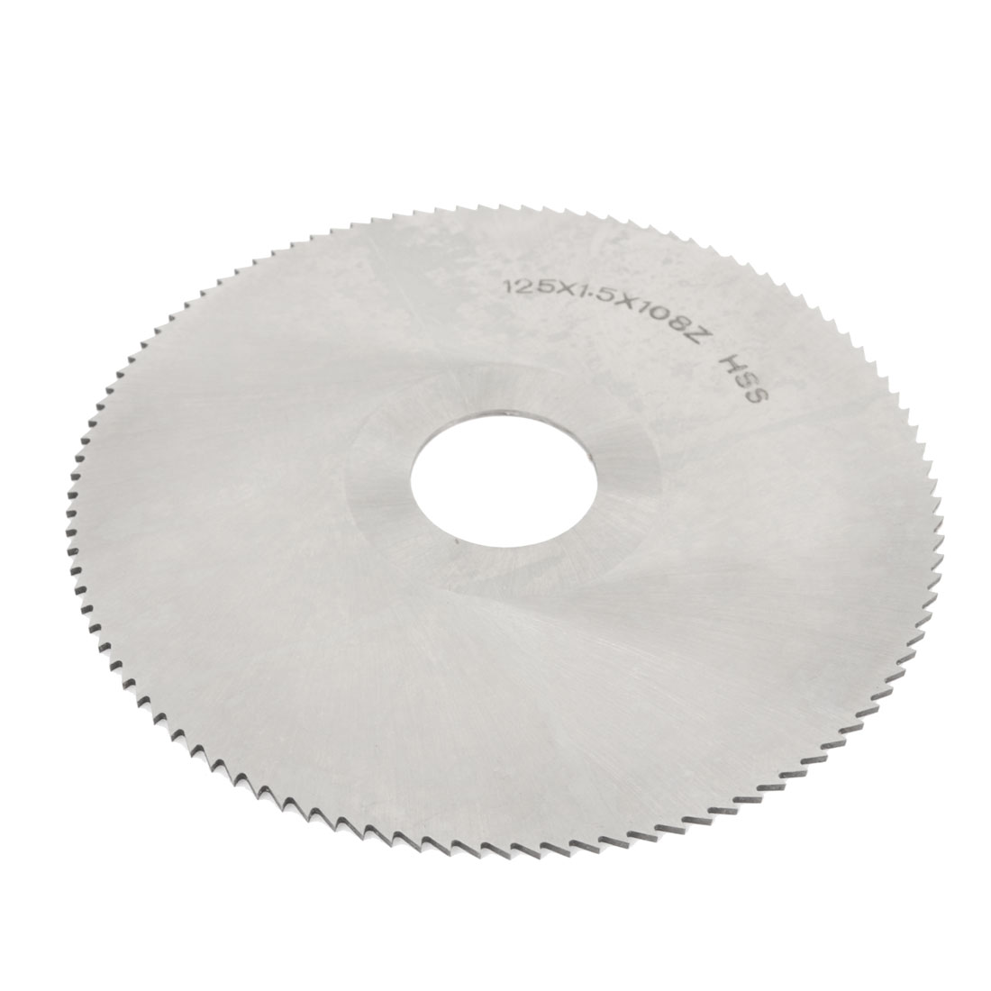 HSS High Speed Steel 125MM Diameter 1.5MM Thk 27MM Arbor 108T Circle Milling Disc Cutting Wheel Slitting Saw Cutter Hand Tool