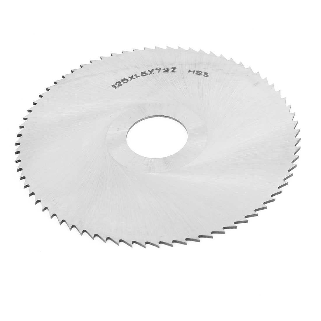HSS 125mm OD 1.5mm Thick 27mm Arbor Dia 72 Teeth Ctting Wheel Slitting Saw