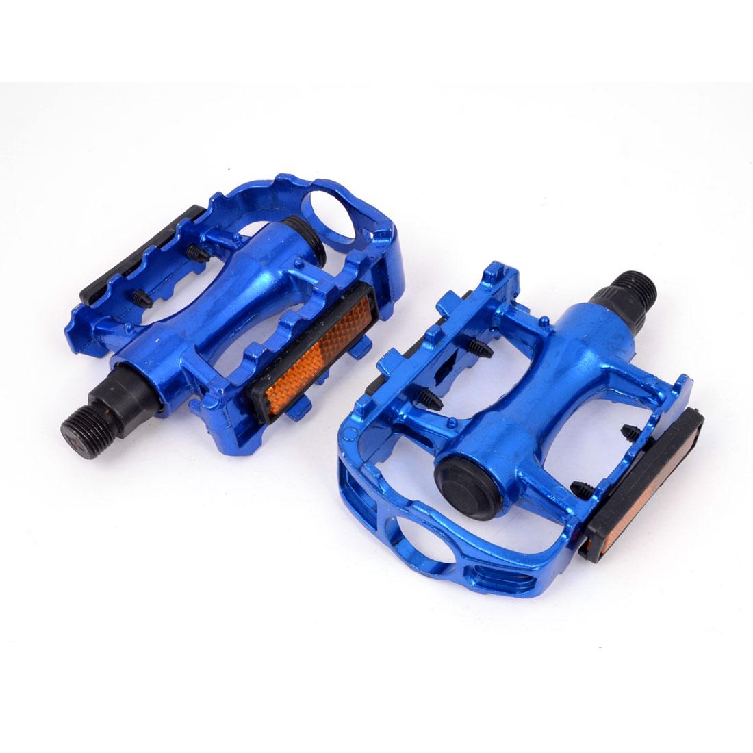 Mountain Road Bike Bicycle Blue Aluminium Platform Pedals 2pcs