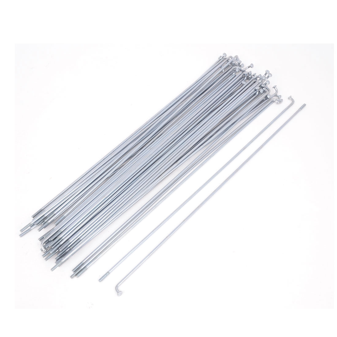 "50 Pcs Silver Tone Metal Cycle Bike Bicycle Spokes 8.7"" Long"